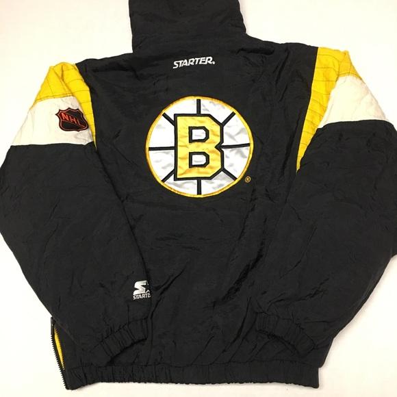 Vintage starter Boston bruins pullover jacket coat.  M 5a53d904739d4817c601c89f bdf356ac0